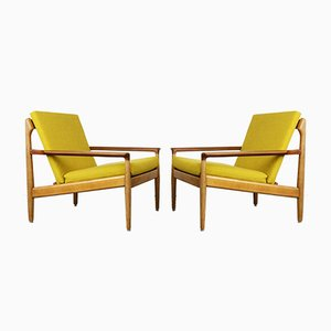 Vintage Oak & Teak Lounge Chairs by Aksel Bender Madsen for Bovenkamp, Set of 2