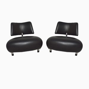 Pallone Lounge Chairs by Roy de Scheemaker for Leolux, 1980s, Set of 2