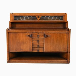 Art Deco Oak Credenza by Hildo Krop for Gebroeders Monsieur Steenwijk, 1920s