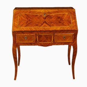 Französischer Vintage Schreibtisch mit Holz Intarsien