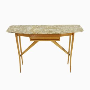 Mid-Century Console Table with Marble Top from Cicchetti, 1950s