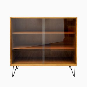 Glass & Walnut Cabinet, 1960s