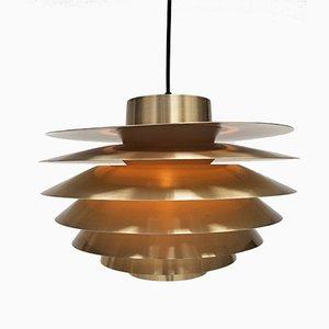Brass Verona Pendant Light by Svend Middelboe for Nordisk Solar, 1970s