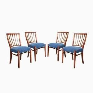 Chaises de Salon Mid-Century en Teck de Greaves & Thomas, 1950s, Set de 4