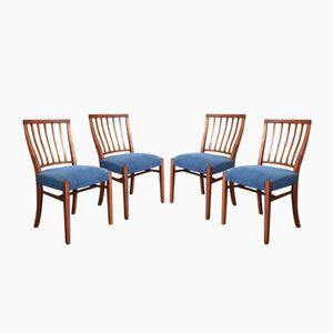 Mid-Century Teak Esszimmerstühle von Greaves & Thomas, 1950er, 4er Set