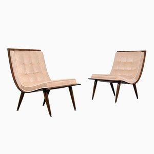 Mid-Century Modern Scoop Chairs, 1960er, 2er Set