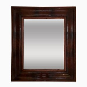 French Mahogany Rectangular Mirror, 1940s