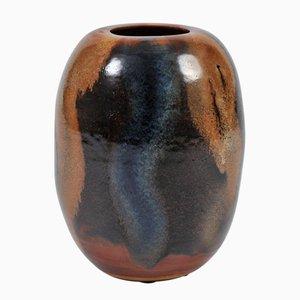 Große Polychrom Steingut Vase von Valeria, 1970er