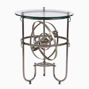 Sculptural Steel Armillary Side Table, 1950s