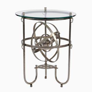 Table d'Appoint Sphère Armillaire Sculpturale en Acier, 1950s