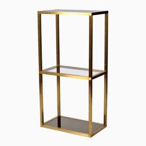 French Brass Shelves, 1970s