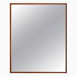 Großer rechteckiger Palisander Spiegel von Glas & Tra, 1960er