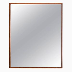 Large Rectangular Rosewood Mirror from Glass & Trä, 1960s