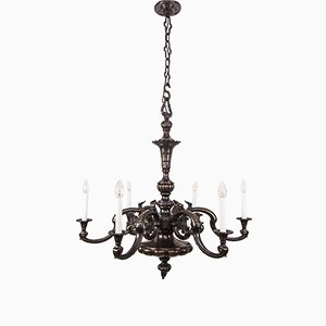 Buy neo classical chandeliers at pamono large bronze chandelier 1890s aloadofball Image collections