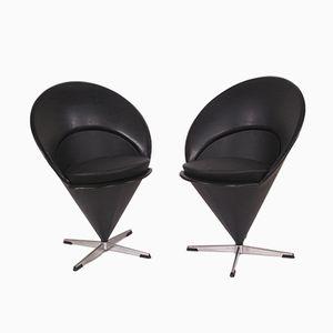 Cone Chairs by Verner Panton for Gebrüder Nehl, 1950s, Set of 2