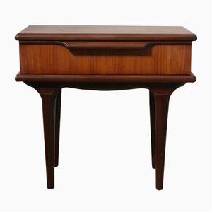 Petite Table de Chevet Mid-Century en Teck