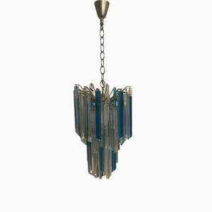 Mid-Century Crystal Prism Chandelier by Paolo Venini