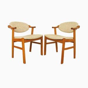Mid-Century Teak Chairs by Kai Kristiansen for Schou Andersen, 1960s, Set of 2