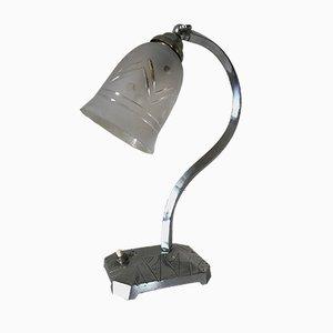 Art Deco Lamp in Nickel Plated Brass