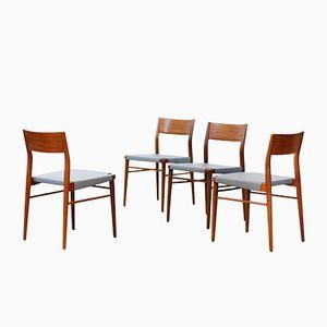 Teak Esszimmerstühle von Georg Leowald für Wilkhahn, 1950er, 4er Set