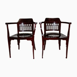Antique No. 714 Armchairs from Jacob & Josef Kohn, Set of 2