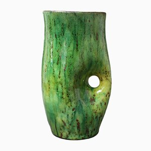 Vase en Céramique Verte, 1960s