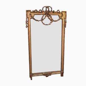 Großer vergoldeter Vintage Stucco Spiegel