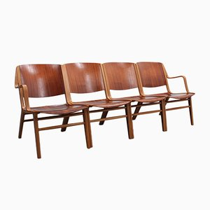 AX Lounge Chairs by Peter Hvidt & Orla Mølgaard-Nielsen for Fritz Hansen, 1960s, Set of 4