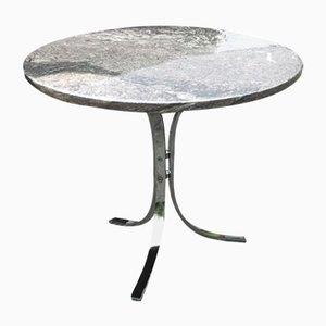Table en Marbre et Chrome, Danemark, 1970s