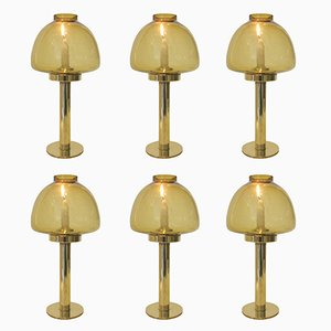 Brass Candle Sticks by Hans-Agne Jakobsson, 1970s, Set of 6