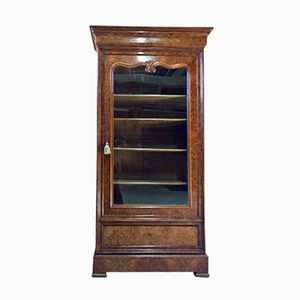 Antique French Walnut Burr Cabinet, 1860s