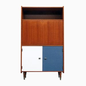 Small Bureau with White & Blue Doors, 1960s