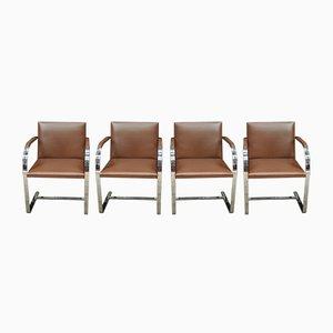 Brno Flat-Bar Chairs von Mies van der Rohe für Knoll, 1960er, 4er Set