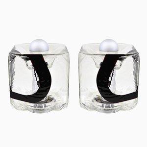 Tischlampen aus Murano Glas von Mazzega, 1970er, 2er Set