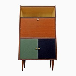 Tall Bureau with Black & Green Doors, 1960s