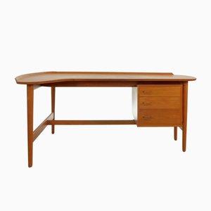 Mid-Century BO85 Teak Desk by Arne Vodder for Bovirke