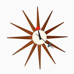 Spike Sunburst Clock by George Nelson for Howard Miller, 1950s