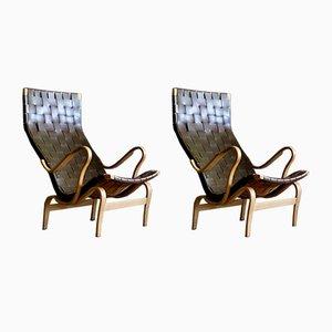 Pernilla Easy Chairs by Bruno Mathsson for Karl Mathsson, 1971, Set of 2