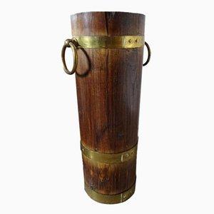 Vintage Holz & Messing Schirmständer