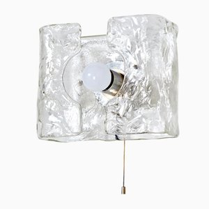 Textured Glass Wall Lamp from Kalmar, 1960s