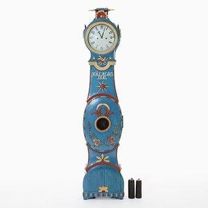 Horloge Grandfather, Suède, 1810s