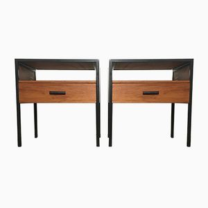 Tables de Chevet Vintage en Teck de Minvielle, 1960s, Set de 2