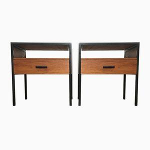 Vintage Teak Bedside Tables from Minvielle, 1960s, Set of 2