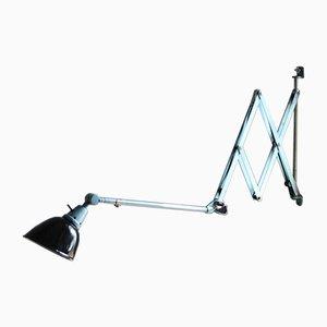Large Vintage Blue Scissor Lamp by Curt Fischer for Midgard