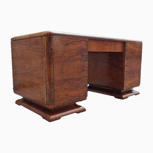 Nussholz Schreibtisch von De Coene, 1920er