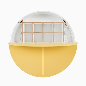 White & Yellow Multifunctional Pill Cabinet by Dalius Razauskas for Emko