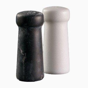 Thalia Marble Salt & Pepper Set by Faye Tsakalides for White Cubes