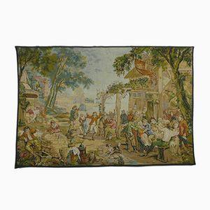 Antike flämische Kermesse Tapisserie von David Teniers für Ateliers de la Tapisserie Francaise