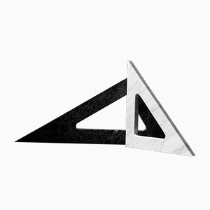 Thalis & Pythagoras Marble Triangles by Faye Tsakalides for White Cubes, Set of 2