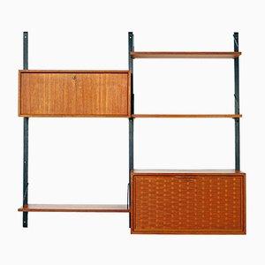 Modulares Royal System Wandregal von Poul Cadovius für Cado, 1960er